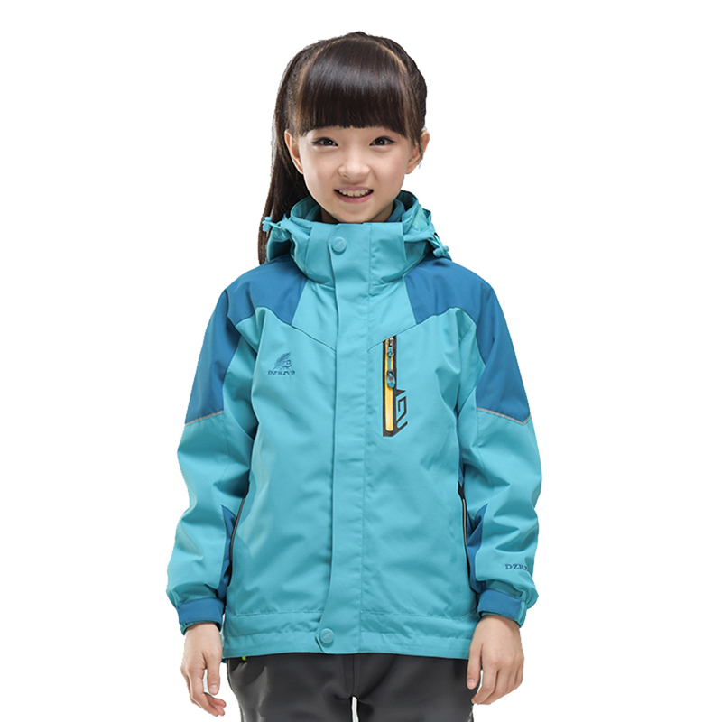 Hot Children Ski Camping Hiking Coat Kids Hooded Waterproof Outdoor Winter Jacket Girls Windproof 3in1 Fleece Lining Outerwear