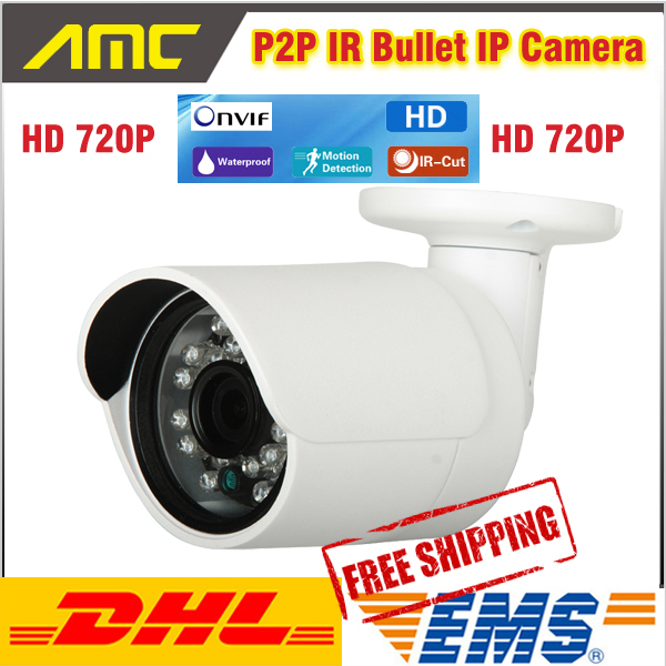 Фото 1280*720P 1.0MP IR Bullet IP Camera ONVIF Waterproof Outdoor IR CUT Night Vision P2P Plug and Play IP Network CCTV Camera