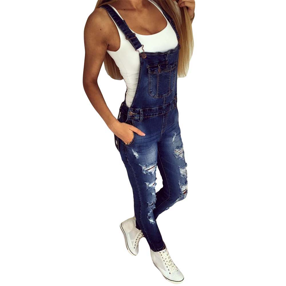 135ae8d1e90c Detail Feedback Questions about Fashion Women Ripped Denim Jumpsuit Romper  Strappy Off Shoulder Sexy Casual Playsuit Overalls Long Jeans Pants YF497 S  3XL ...