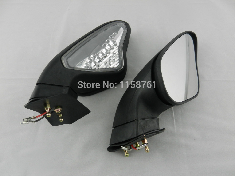 FREE SHIPPING Turn Signals Led Light Rear Mirrors For DUCATI 848 1098 1098S 1098R 1198 1198S 1198R 1set motorcycle rearset foot pegs footrest rear set for ducati 848 1098 1098s 1098r 1198 titanium wholesale d10