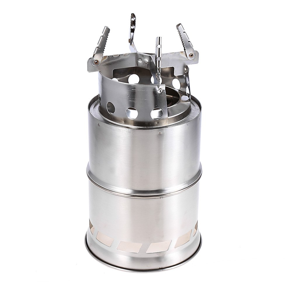 Light Weight Portable Stainless Steel Wood Burning Stove Clean Fuel  Foldable Split Type Stove for Outdoor Camping Picnic Burning - Lighting Wood Stove Promotion-Shop For Promotional Lighting Wood