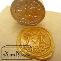 Double Letter Design Wedding Stationary Wedding Invitation Retro Antique Sealing Wax Stamp Customize Logo Custom Wax
