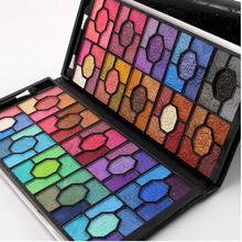 Women Luxury 100 Colors Eye Shadow Palette Shimmer Glitter Matte Eyeshadow Eyes Makeup Set with Leather Bag Wholesale 24pcs/lot