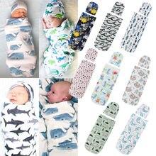 Pudcoco новорожденных забавные пеленки Одеяло пеленка для сна муслин Обёрточная бумага шляпа Повседневное спальные мешки