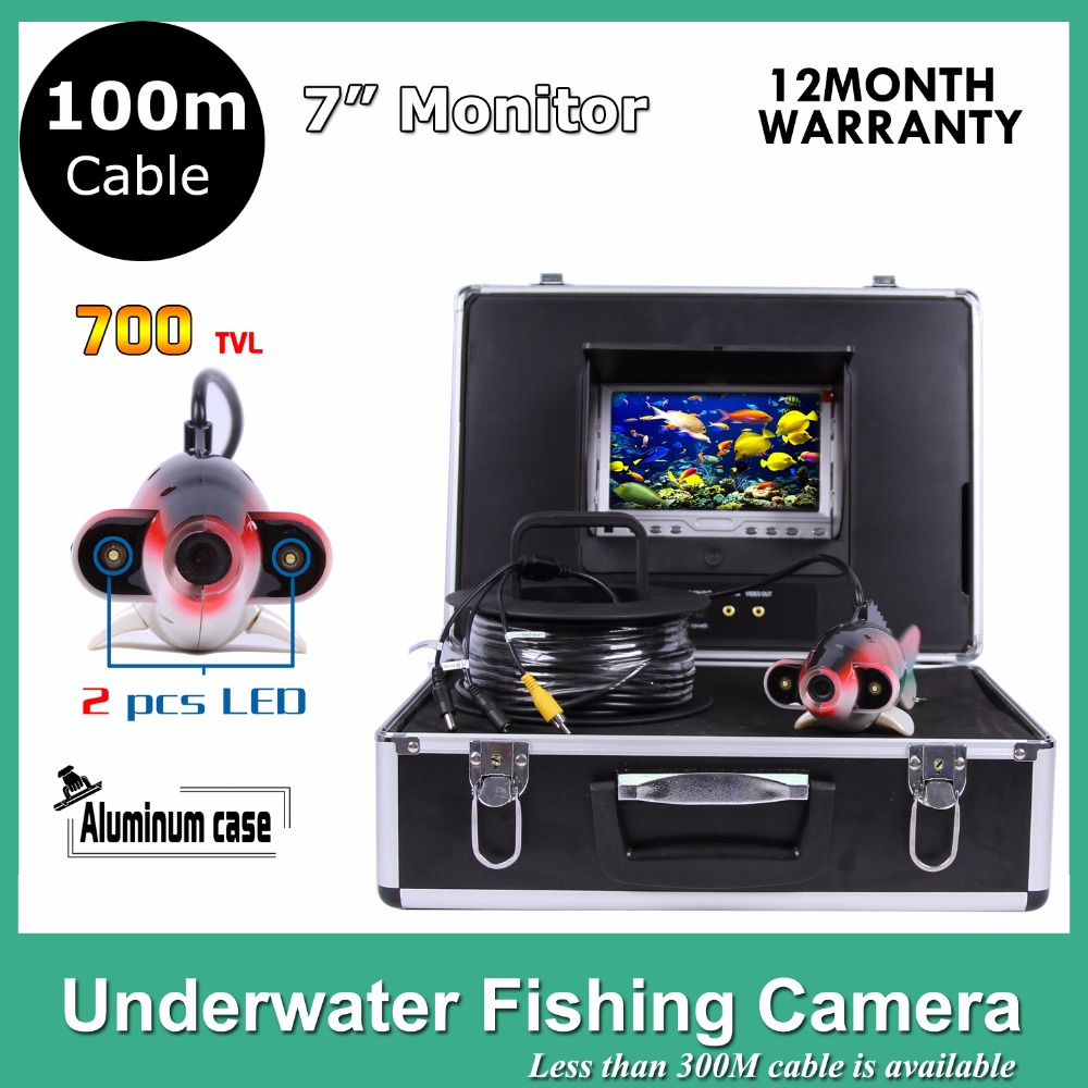 7 TFT LCD fishing finder Monitor 12pcs LED Light 600TVL camera Underwater 100M Endoscope Inspection Camera 8 4inch 8 4 non touch industrial control lcd monitor vga interface white open frame metal shell tft type 4 3 800 600