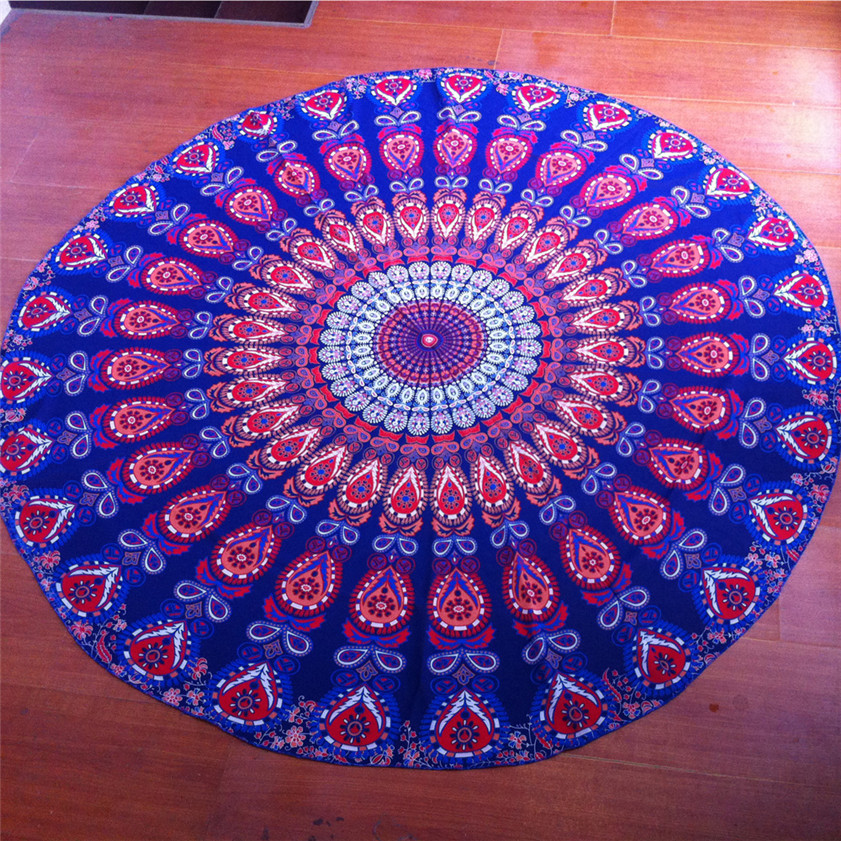 drop shipping 2017 Home Deco High Quality Round Beach Pool Home Shower Towel Blanket Table Cloth Yoga Mat
