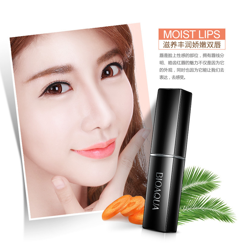 BIOAOUA Hot Long-Lasting Change Color lipstick Carrot Nonstick Cup Balm Anti Aging Makeup Lip Care Beauty 1