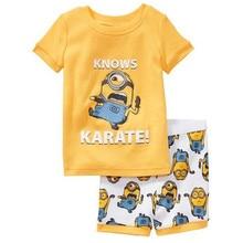 Homewear Pajamas Cartoon Cotton Super Mario Bros Childrens Sets Boys T-shirts Short Pants Kids Clothing Summer