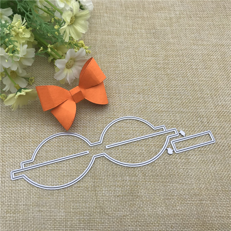 Bowknot Cutting Die DIY Embossing Stencil Paper Craft Scrapbook Bookmark Decors