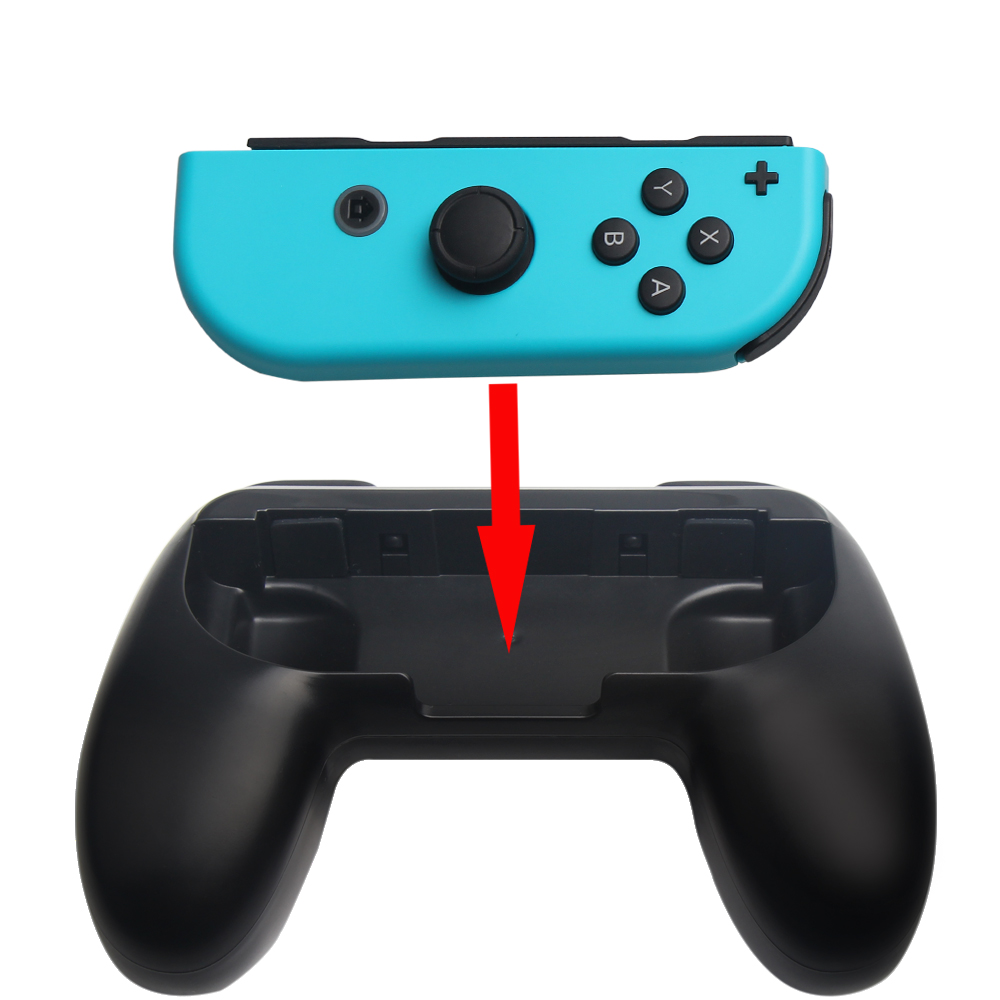 For Nintendo Switch Joy Con Controller Grip Left And Right Handleg Controllers Grey Grips Handel Holder Stand In Gamepads From Consumer
