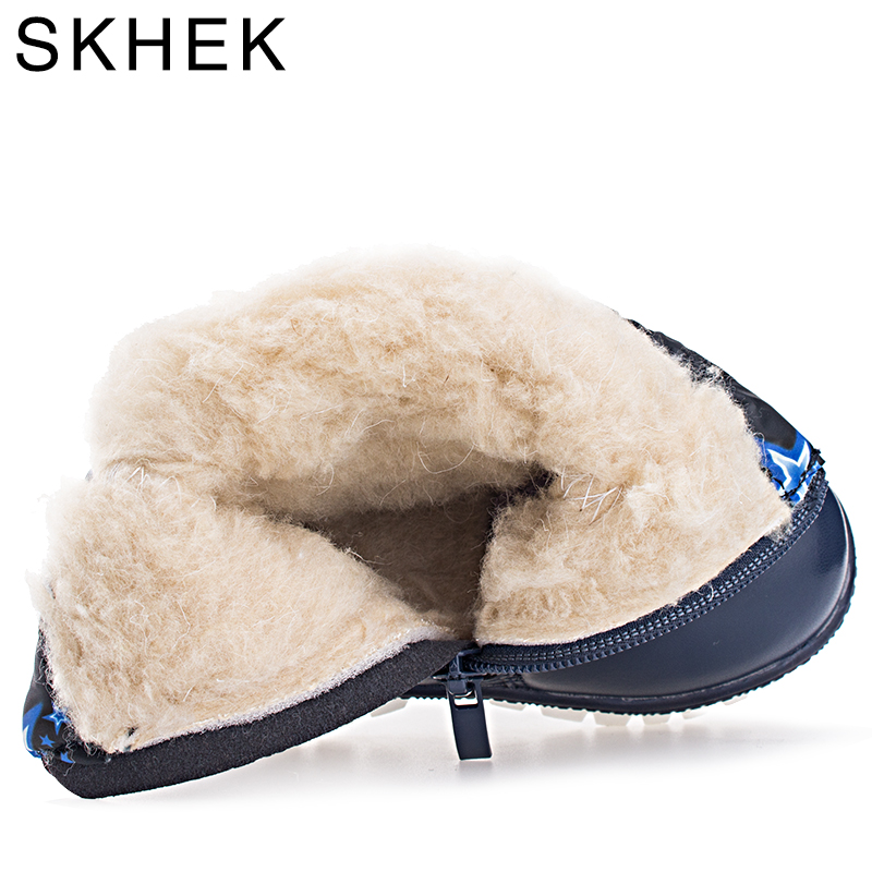 SKHEK Girls Boys Boots Russia Winter Warm Baby Shoes Fashion Waterproof Children Shoes Perfect For Kids Botas Accessories in Boots from Mother Kids