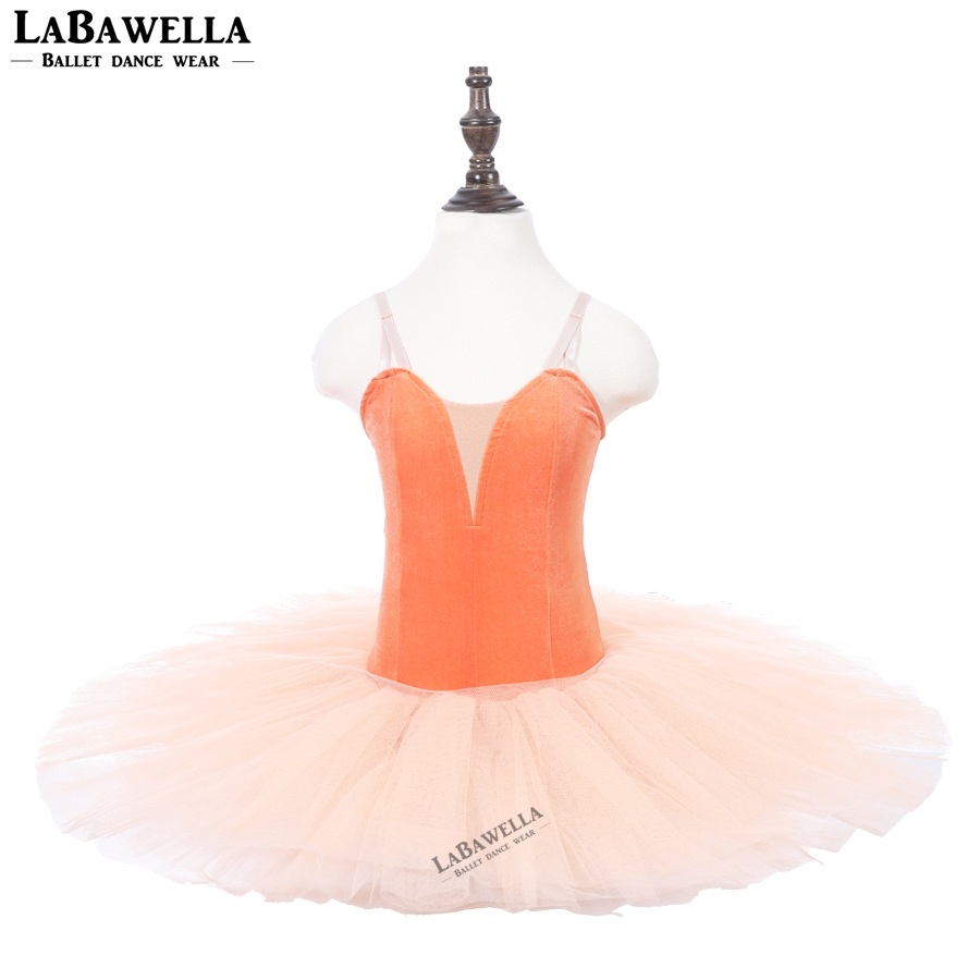 PPL18044C orange dance tutu adult classical performance stage ballet tutu costumes dress ballerina dance costumes for