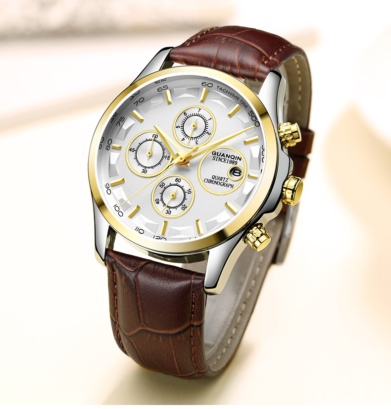 GUANQIN GS19112 watches men luxury brand quartz watch multi-functional men's watch trend sports luminous waterproof calendar 54
