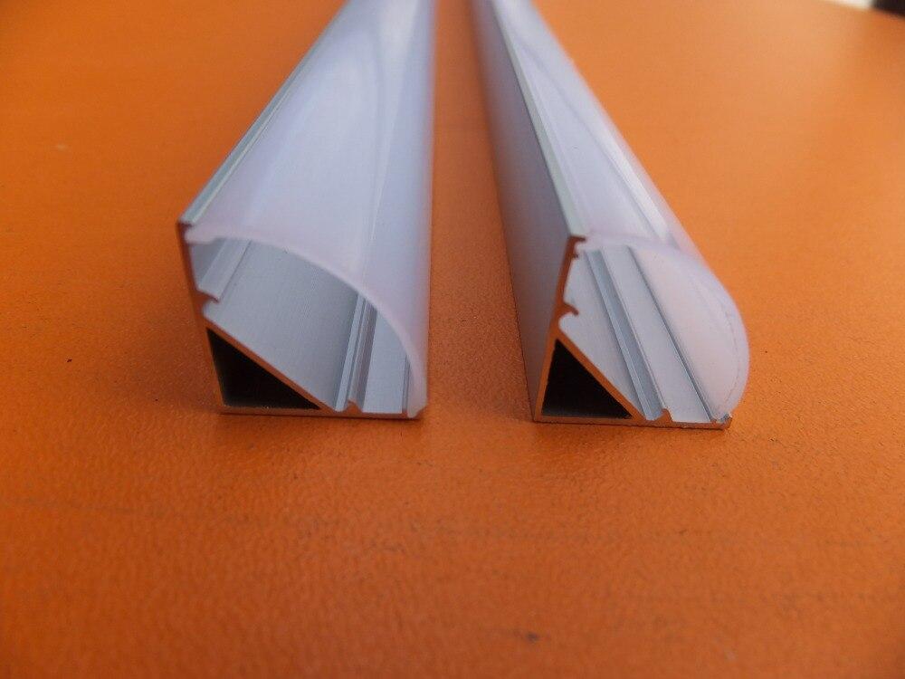 Free Shipping 2500mmX16mmX16mm Corner aluminum led housing aluminum profile for led strip light led bar light width 12mm in LED Bar Lights from Lights Lighting