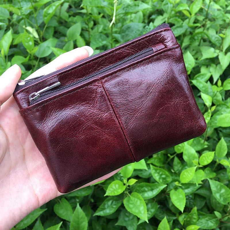 2017 Women Wallet Small Short Genuine Leather Wallet Female Coin Purse Brown Black Red Lady Purses Mini Men's Wallets And Purses coin purses women wallets genuine leather mini purse small coin pouch hasp