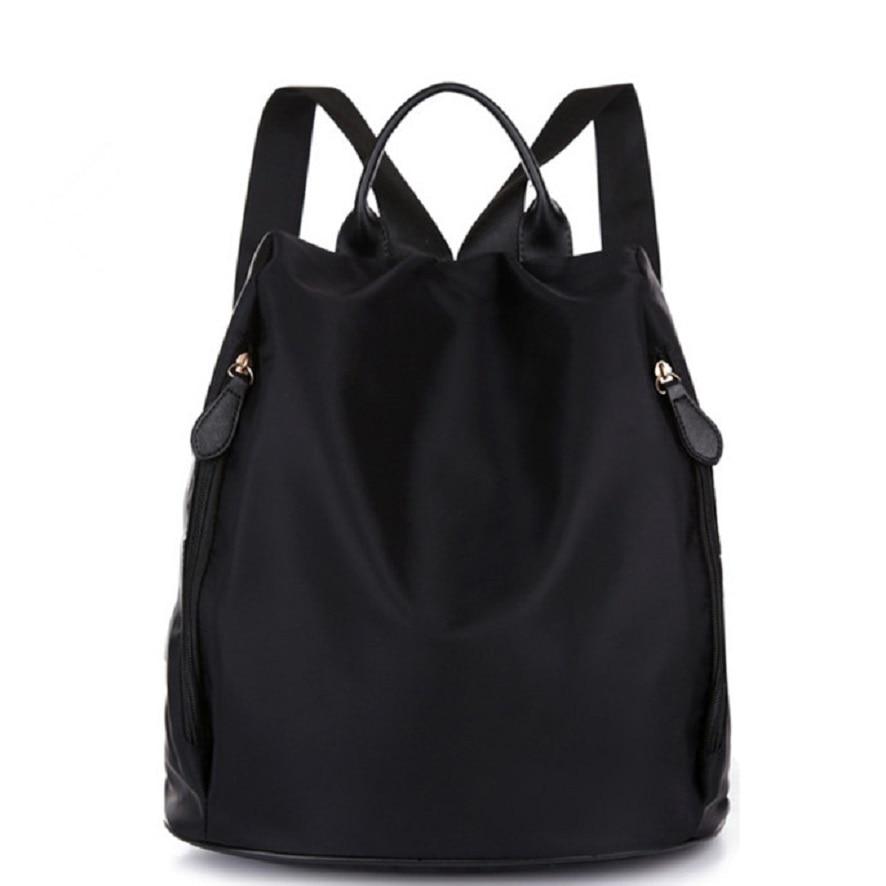 Woman Waterproof Nylon Backpack Female Oxford Canvas Leisure Travel Bag Sewing Backpacks B 22