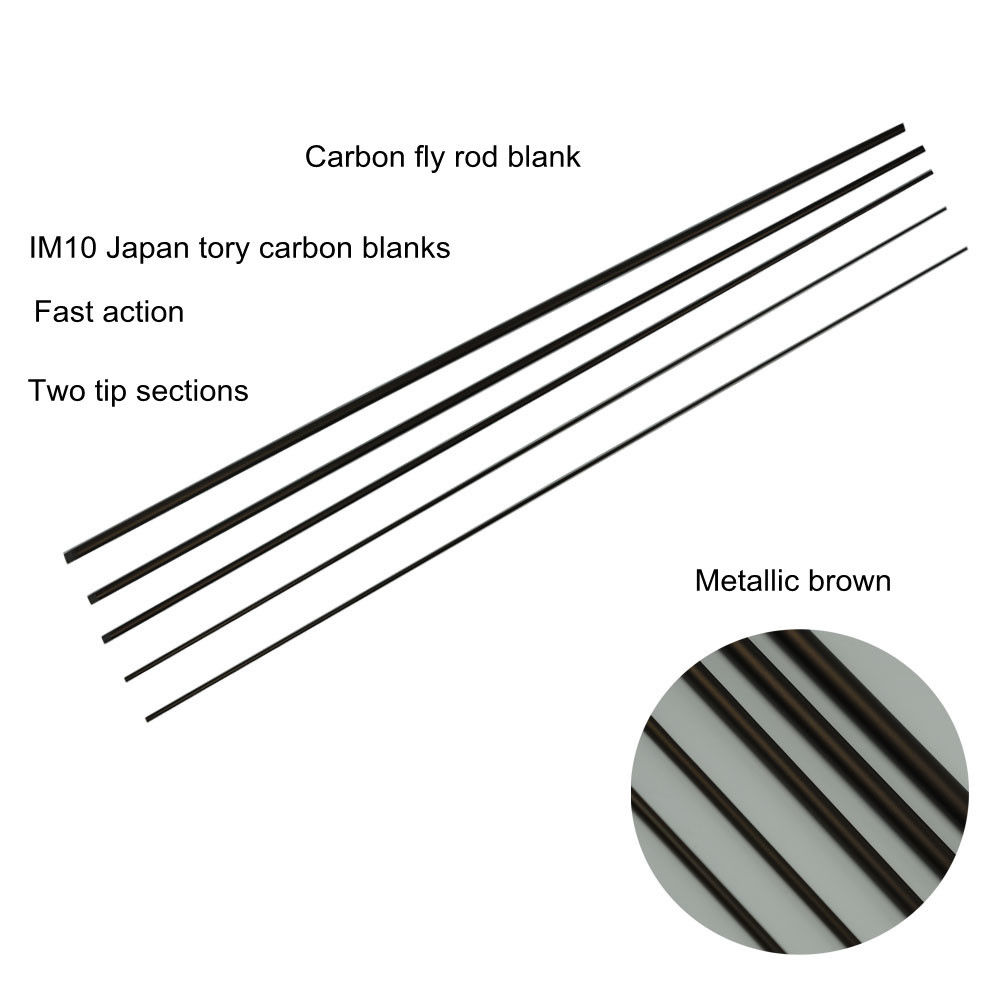 Two Tips Aventik Saltwater IM10 High Mould Carbon Fly Rod Blanks 9FT 7//8//9WT