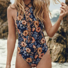 Europe and the United States new small chrysanthemum printing piecemeal swimsuits swimwear swimsuit women