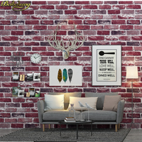 beibehang papel parede 3D Waterproof Brick Wallpaper Roll Vinyl PVC Rustic Realistic Faux stone Wall Paper for home improvement