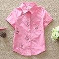 2016 New Высокого Качества Лето Детские Мальчики Девочки Одежда Рубашки С Коротким Рукавом Рубашки Детская Одежда