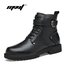 Natural Leather Men Winter Boots Lace Up Warm Fur Ankle Snow Handmade Plus Size Autumn And Shoes Dropshipping