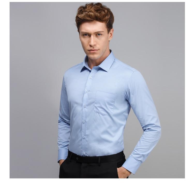 HTB1rBDfBVuWBuNjSszbq6AS7FXa8 - 2019 Men Dress Shirt Long Sleeve Slim Brand Man Shirts