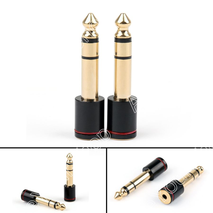 Areyourshop Sale 20PCS Copper 6.35mm Male Plug To 3.5mm Stereo Female Headphone Jack Audio Adapter areyourshop 3 5mm male plug to 6 35mm female jack stereo converter stereo mic adapter 100pcs for pc