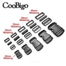 Adjustable Backpack Ribbon-Webbing Release-Buckles Belt-Loop Rectangle Ring Sewing