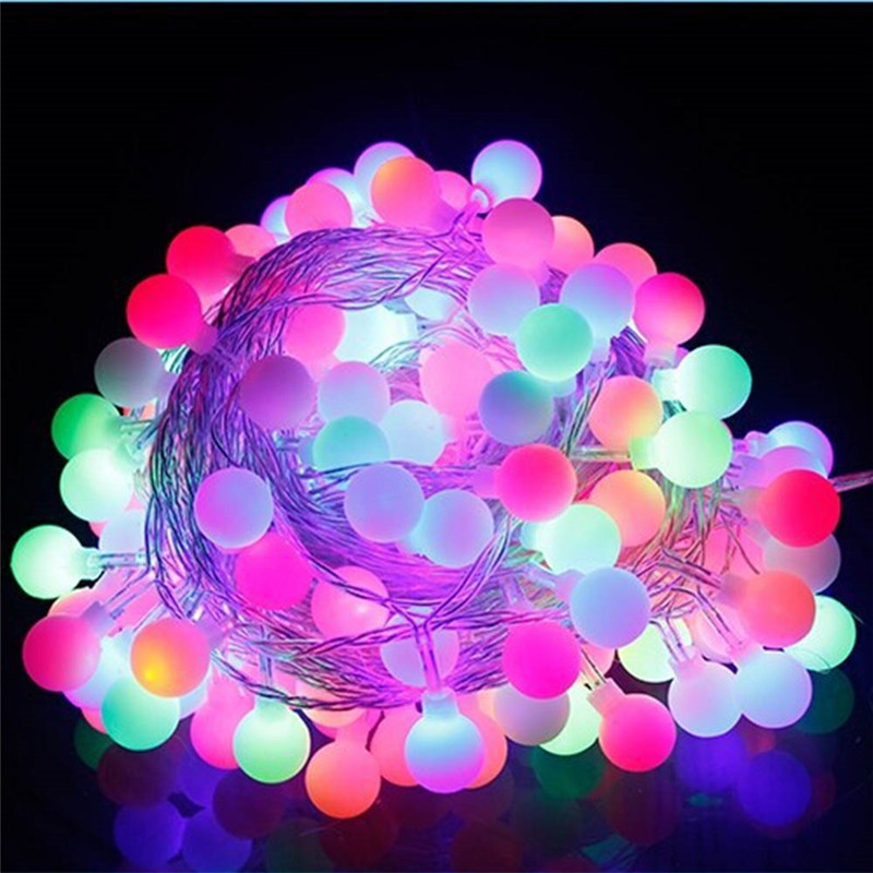 10M 100 Led Christmas Tree Garland String Xmas Decoration Outdoor Ball Curtain Navidad Curtain Fairy Holiday Lights AC220V 110V in LED String from Lights Lighting