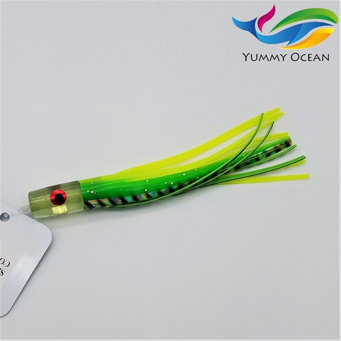 8.5 inch Crystal Head Skirt Lure Trolling Lure With Eyes Fishing Lure Fishing Tackle Saltwater