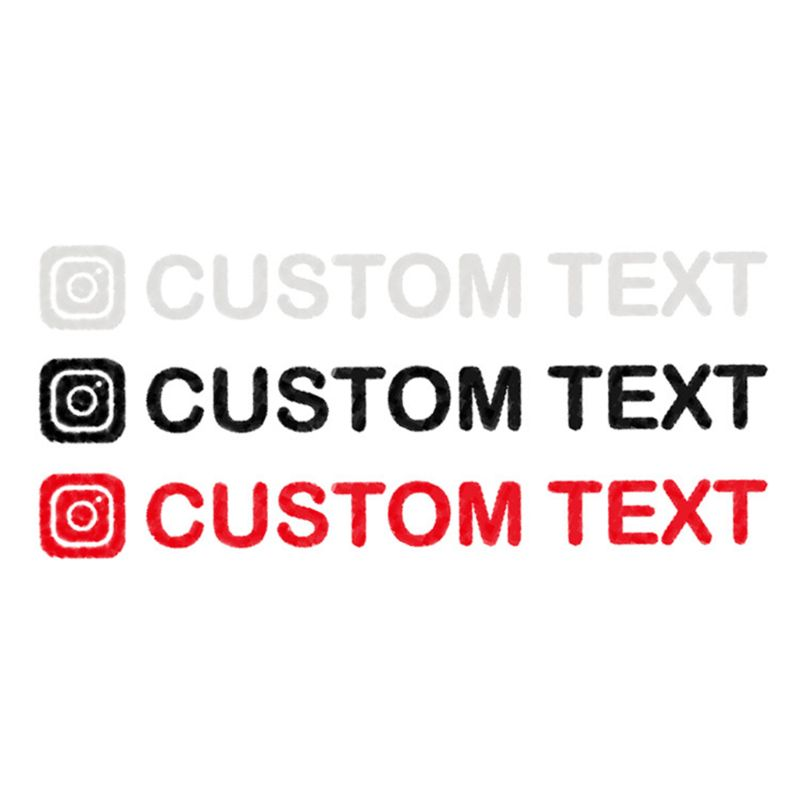 1PC 20*2CM Personalized Custom Instagram Username Waterproof Car And Motorcycle Decals Bumper Sticker