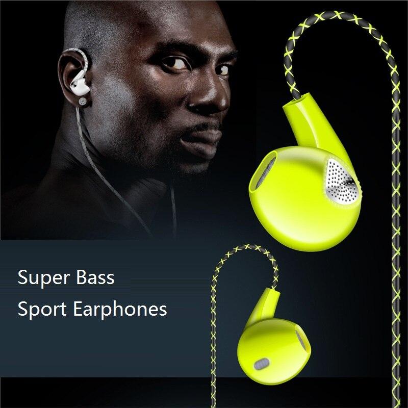 New Fashion Design Universal 3.5mm Jack Earphone for iPhone Hifi Stereo Super Bass Earphone Ear Hook Sport Headset Headphone