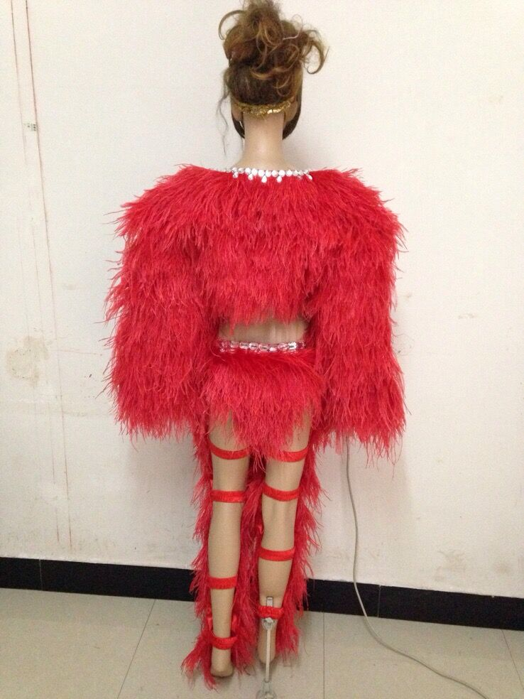 Plume cape sexy costumes carnaval femmes coiffes jambe bande pantalon court halloween costumes pour femmes sexy adulte samba - 6