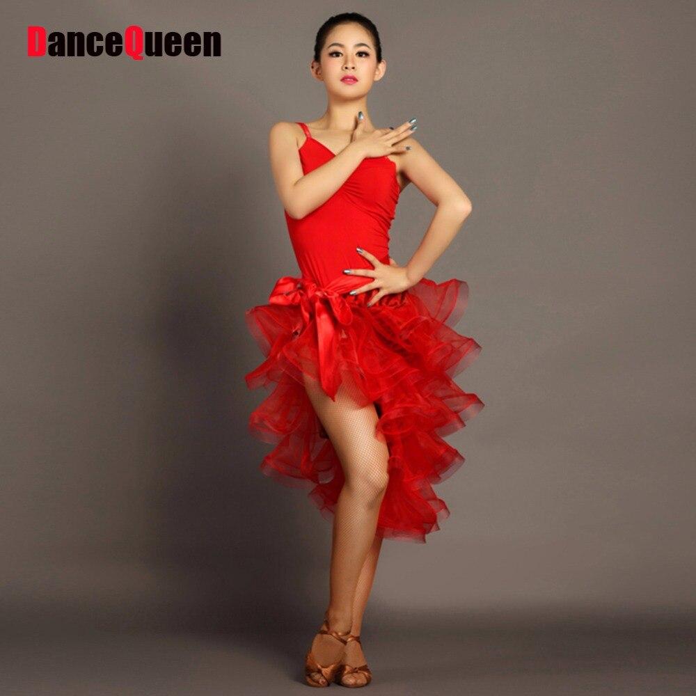 2018 New Women Latin Dance Dress Sexy Tank-Top+Spiral Skirt 2Pcs Performance Stage Star Regata Flamenco Dresses Samba Costume