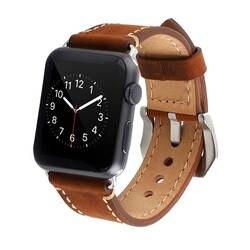 Для apple watch 38mm/42mm iwatch 3/2/1 браслет с металлической пряжкой ремень кожаный часы группа