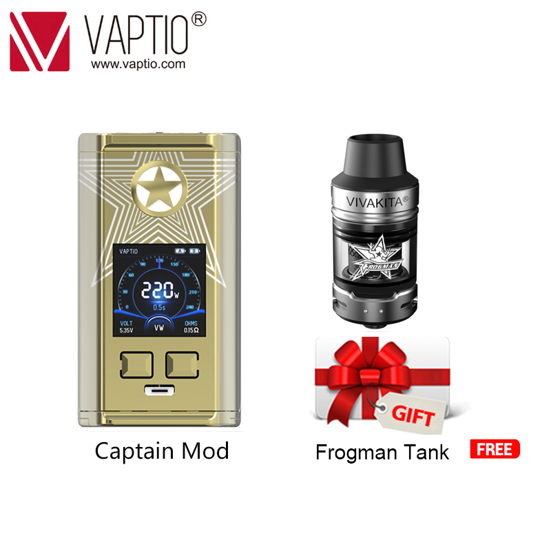 Gift Vape MOD Electronic Cigarette CAPTAIN Box Mod 220W MAX Vaporizer For 510 Thread Atomizer Fitted TFV8 Babytank