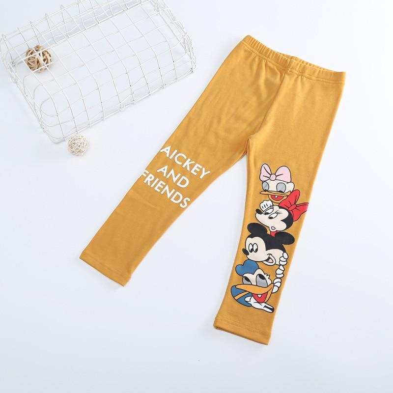 Fashion Cotton mickey Girls Pants Cartoon minnie Girl Leggings Baby Pants Kids Trousers Children Legging Girl Clothing 4 colors 5