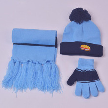 2 to 9 Years Old Children Three Pieces Of Winter Hat And Scarf and Gloves 6 Colors Available Boys Girls Warm Cap
