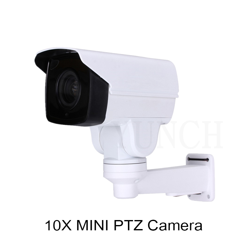 2017 YUNCH 1080P 10X 4X Waterproof zoom cctv camera with POE IP Bullet PTZ Camera Onvif 1080P MINI PTZ IP Surveillance Camera