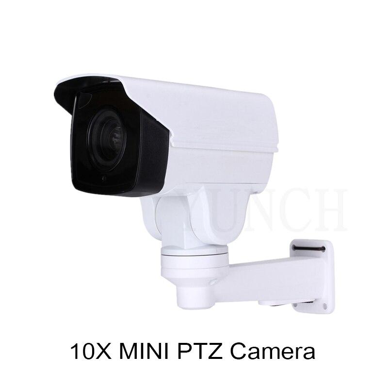 2018 YUNCH 1080P 10X 4X Waterproof zoom cctv camera with POE IP Bullet PTZ Camera Onvif 1080P MINI PTZ IP Surveillance Camera