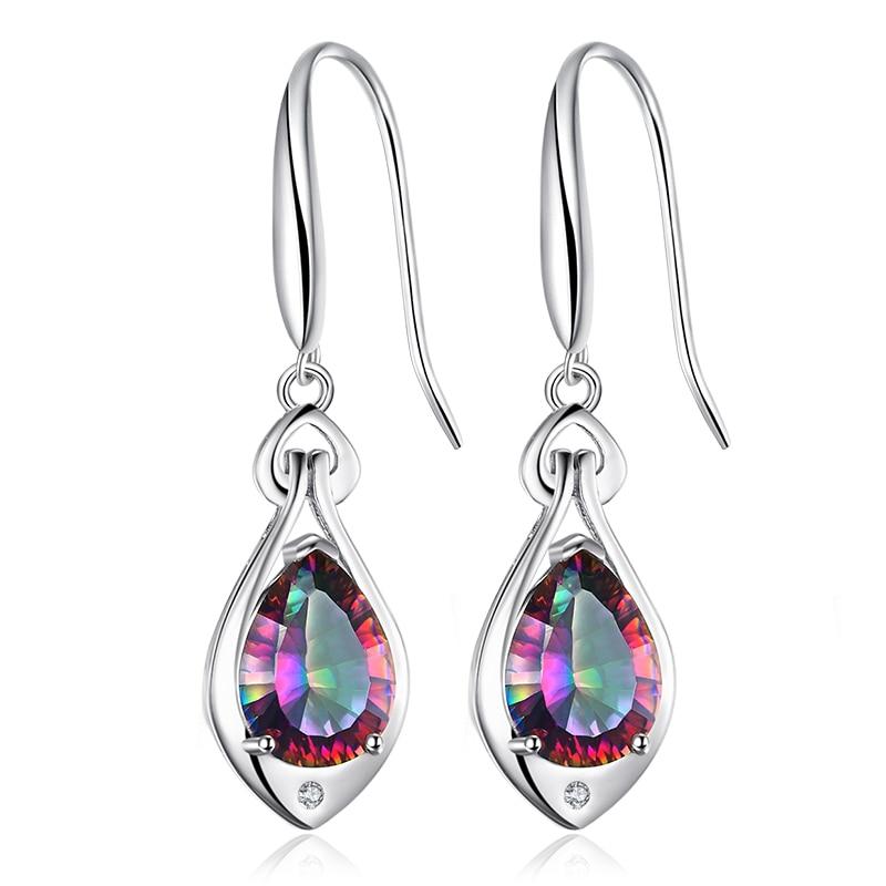 Jewelry Water Drop 6.8ct Rainbow Fire Mystic Topaz