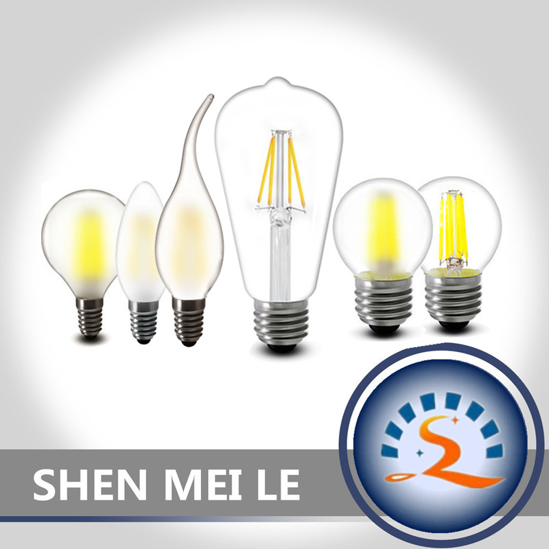 E27 E14 2w 4w 6w 8w Clear Frosted Glass LED Filament Bulb A60 G45 C35 ST64 220v AC LED candles Lamp light 230v AC Indoor light 1pcs e27 e14 220v 230v 240v a60 g45 c35 2w 4w 8w warm white led filament candle bulb lamp light