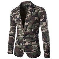 Zogaa 2019 Brand Men's Blazer Camouflage Cotton Lapel Regular Blazer Men Slim Fit Single breasted Male Suit Jacket Casual Coats