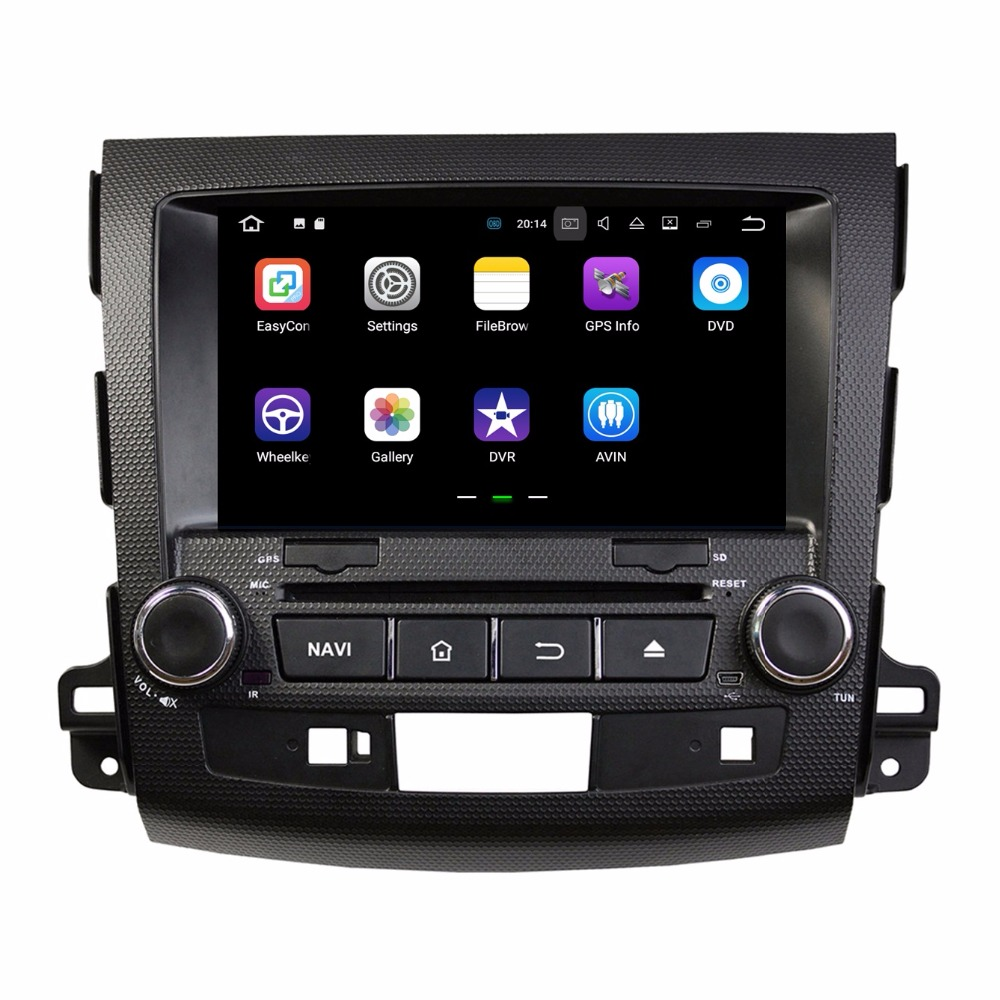 Quad Core 2 din 8″ Android 7.1 Car DVD Player for Mitsubishi Outlander 2006-2012 With 2GB RAM Radio GPS WIFI Bluetooth 16GB ROM