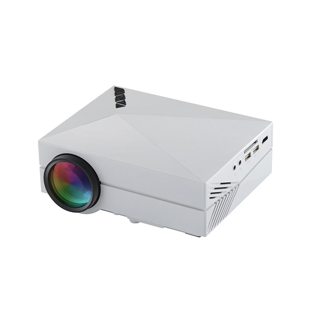 GM60 Multimedia Mini Portable LED 800*480 Projector Support VGA/HDMI/USB/AV/SD For Home Cinema