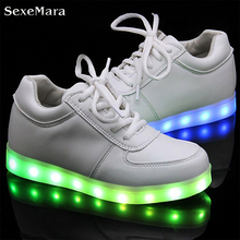 men basket light up led shoes mens shoes led schoenen unisex casual lovers homme luminous femme chaussures lumineuse for adults