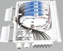 FTTH 12 cores fiber Termination Box 12 port 12 channel Splitter Box indoor outdoor fiber Splitter Box ABS