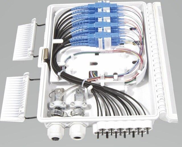 FTTH 12 cores fiber Termination Box 12 port 12 channel Splitter Box indoor outdoor fiber Splitter Box ABS