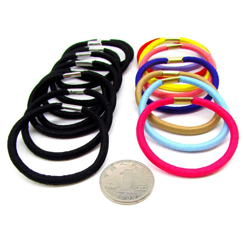30 шт. черный и Красочный Эластичный кольцо Новый дизайн резинка для волос высокие эластичные волосы галстуки Professional Парикмахерские аксессуары