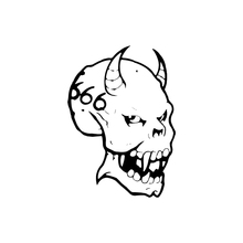 Scary Evil Devil Face Car Sticker Vinyl Car Packaging Accessories Product Decal Body Scary deadly aboriginal sticker australia car flag interesting packaging accessories product decal decor